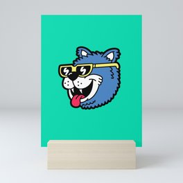 Cool Bear (portrait) Mini Art Print