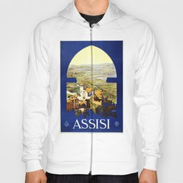 ASSISI Town Perugia Italy ENIT Vintage Italian Travel Poster Hoody