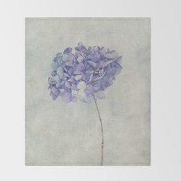 Beautiful Blue Hydrangea Throw Blanket