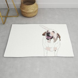 Labrador Dog (white) Rug