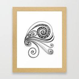 Sea Spiral Framed Art Print