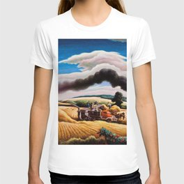 American Classical Masterpiece Threshing Wheat by Thomas Hart Benton T-shirt