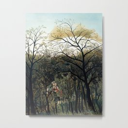 Henri Rousseau - Rendezvous in the Forest Metal Print