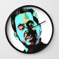 mike wrobel Wall Clocks featuring Mike Shinoda by Lyre Aloise