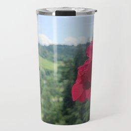 Geranium outside the window photography Travel Mug