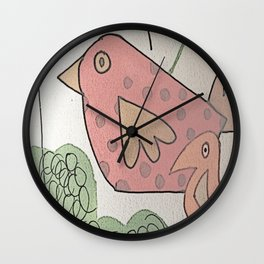 seeking birds Wall Clock