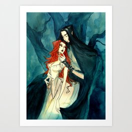 Hades and Persephone II Art Print