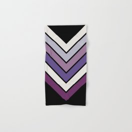 Purple Night Bloom Chevron Hand & Bath Towel