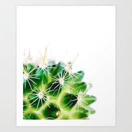 Half a Cactus 02 Art Print