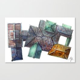 Taiwanese roofscapes 03 Canvas Print