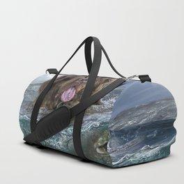 Majestic Newfoundland Dog Swimming Ultra HD Duffle Bag