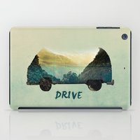 drive iPad Cases featuring drive by yuvalaltman