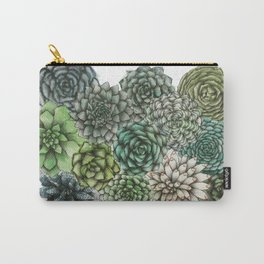 An Assortment of Succulents Carry-All Pouch