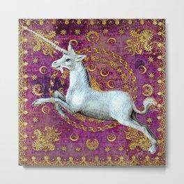 Unicorn - Garden of Beasts Collection Metal Print