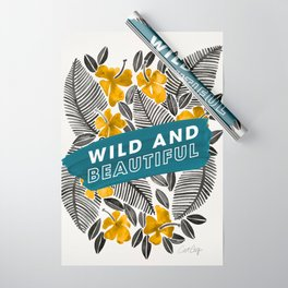 Wild & Beautiful – Yellow Palette Wrapping Paper