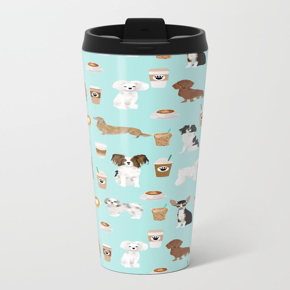 Coffee Dogs Cute Miniature Dog Breeds Chihuahua Bi… Travel Cup TRM8059217