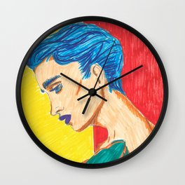 Clean, Painted Ladies Collection Wall Clock