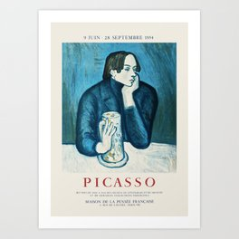 Picasso - Exhibition poster Art Print