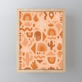 Orange Cutout Print Framed Mini Art Print