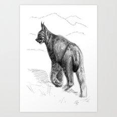 Lynx Land sk126 Art Print