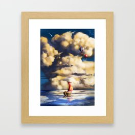 Clouds and stars Framed Art Print