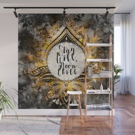 Gold Gypsy Moon Stay Wild Moon Child Wall Mural