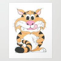 gizmo Art Prints featuring GIZMO by Zookeeper!