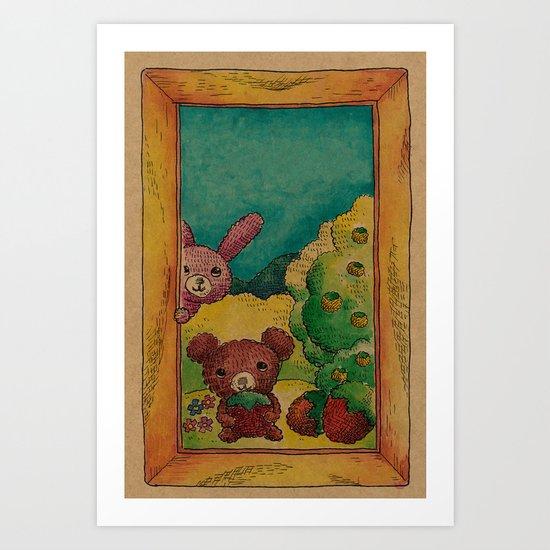 Forest wool Art Print