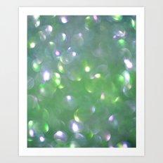 Glitter Bubbling Art Print