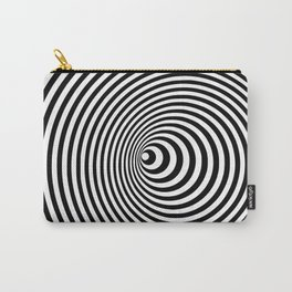Vortex, optical illusion black and white Carry-All Pouch