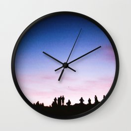 Sunrise Silhouettes Wall Clock