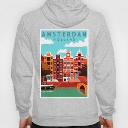 Vintage Amsterdam Holland Travel Hoody