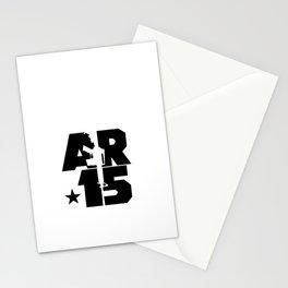 AR-15 (Silver/Black) Stationery Cards
