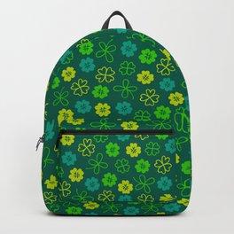 St Patrick's Day Lucky Shamrock Pattern Backpack