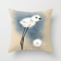 Snowy Stilted Plover Throw Pillow