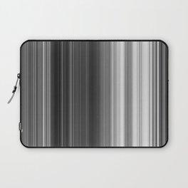 Black White Gray Thin Stripes Laptop Sleeve