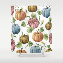 PUMPKINS WATERCOLOR Shower Curtain
