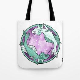 Pisces Dragon || Dragon Zodiac Series Tote Bag