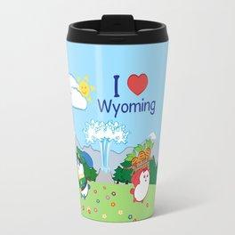 Ernest and Coraline | I love Wyoming Travel Mug