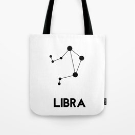 Libra Zodiac Constellation Tote Bag
