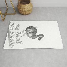 Dodo Bird We Shall Rise Again Retro Vintage Animal Lover design Rug