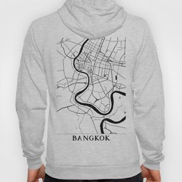 Bangkok Thailand Minimal Street Map Hoody