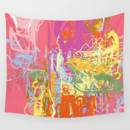 Flow   Pastel Abstract Art   Abstract Art Print Wall Tapestry