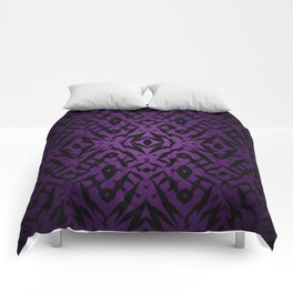 Purple tribal shapes pattern Comforters
