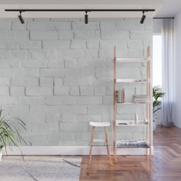 White Brick Wall - Photography Wall Mural