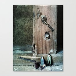 House Disaster Art -  Old Friends Canvas Print