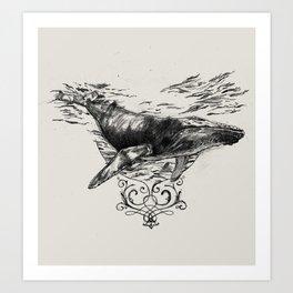 Whaling Art Print