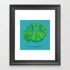 Magical Chameleon Framed Art Print