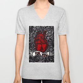 Love and Lace Unisex V-Neck