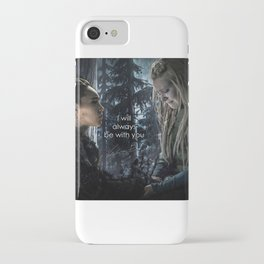 """Clexa: """" I will always be with you"""" iPhone Case"""